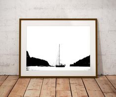 Boat Print, Boat Art, Boat Gift, Black and White Print, Nautical Decor, Dartmouth Wall Art, Sailboat Poster, Silhouette Art, Gifts for Him, Boating Gifts, Boat Art, Silhouette Art, Office Art, Etsy Handmade, Gifts For Kids, Nautical, Original Art, Dartmouth
