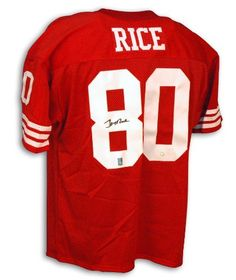 8d1c8b92e Jerry Rice Signed Jersey - San Francisco 49ers Red Throwback - Autographed  NFL Jerseys Jerry Rice