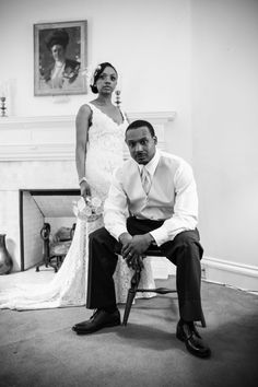 Vintage wedding, don't smile!...true vintage style