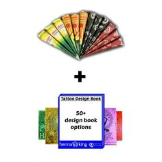 Henna Cone Kit with Design Book   Shop Henna for Tattoos - HennaKing.com ✖️HAIR AND BEAUTY  :  HENNA SUPPLIES   / حنا / MEHNDI SUPPLIES /   حِنَّاء   ✖️FOSTERGINGER AT PINTEREST ✖️