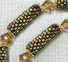 peyote tube bead patterns - Google Search