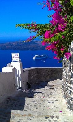 Aegean Sea, Greece -- I want to be on that cruise ship!!...