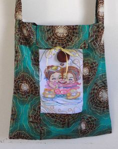Bag Cotton Purse Handmade Art Quilted16x19 inch Greens tote+embroidery  1 handel | Clothing, Shoes & Accessories, Women's Handbags & Bags, Handbags & Purses | eBay!