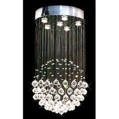 Harrison Lane Raindrop T40-228 Chandelier, Grey Contemporary Chandelier, Modern Contemporary, Home Lighting, Chandelier Lighting, Modern Lighting, Bathroom Chandelier, Chandelier Ideas, Silver Chandelier, Globe Chandelier