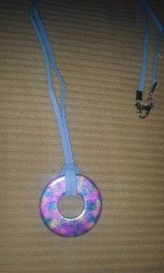 Alcohol ink washer necklace 8-22-15