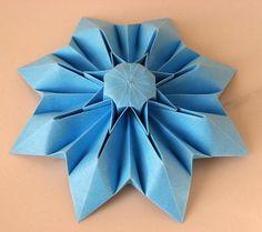 Tecnica: origami, con foglio unico quadrato.   Autore: Francesco Guarnieri ((settembre 2010).  From one uncut octagonal of paper 120 g/m2, 24 x 24 cm.  Designed and folded by Francesco Guarnieri, September 2010.  Crease Pattern: http://flic.kr/p/9FHFXk