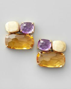 Murano Multi-Stone Stud Earrings by Marco Bicego at Neiman Marcus.