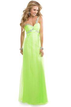 2014 Prom Dress One Shoulder A Line Floor Length Ruffles Bud Green Beads&Sequins USD 139.99 EPP7X2A2M3 - ElleProm.com