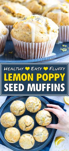 Lemon Poppy Seed Muffins are bursting with fresh lemon flavor and made into a healthy breakfast muffin recipe by using coconut oil and honey. Healthy Breakfast Muffins, Healthy Muffin Recipes, Poppy Seed Muffins Healthy, Muffin Recipies, Healthy Brunch, Breakfast Bake, Breakfast Ideas, Lemon Poppyseed Muffins, Lemon Muffins