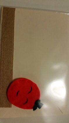 Felt Burlap Pumpkin Card