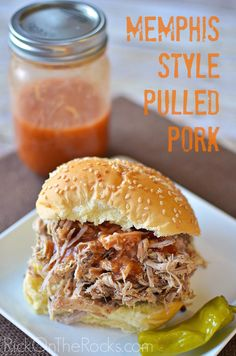 Memphis Style Pulled Pork Recipe - Prepared in a Crock Pot or Slow Cooker - more on www.rickontherocks.com