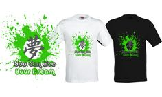 T-Shirt White/Black - You Can Live Your Dream #DREAM #GraphicTee
