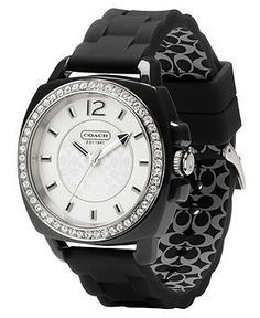 569a96db0 COACH BOYFRIEND SILICON RUBBER STRAP WATCH & Reviews - Watches - Jewelry &  Watches - Macy's