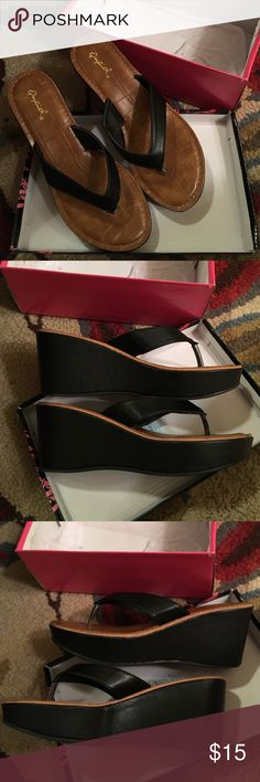 Qupid black wedges Qupid black wedges worn once size 7. Great condition! Qupid Shoes Wedges