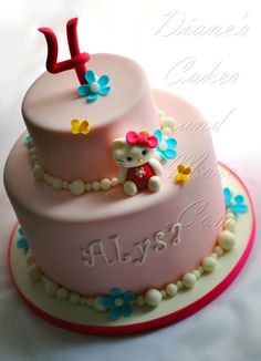 Hello Kitty Cake simple and pretty