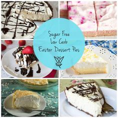 26 Sugar-free Low Carb Easter Dessert Pies!! gluten free