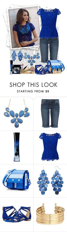 """""""Dress in Blue"""" by michi-bruce ❤ liked on Polyvore featuring Genetic Denim, Giorgio Armani, Jacques Vert, Kenzo, Ted Baker and H&M"""