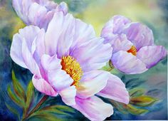 diamond painting flowers diy cross stitch diamond embroidery full round drill rose tulips patterns home decor Art Floral, Watercolor Flowers, Watercolor Paintings, Watercolour, Painting Flowers, Silk Peonies, Peony, Red Poppies, Pink Tulips
