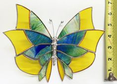 Large Stained Glass Butterlfy Gorgeous Handmade by FiestaColor