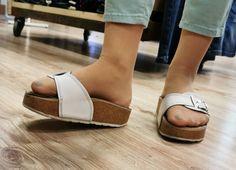 Wooden Sandals, Cork Sandals, In Pantyhose, Nylons, Flip Flop Shoes, Flip Flops, Dr Scholls Sandals, Birkenstocks, Compliments