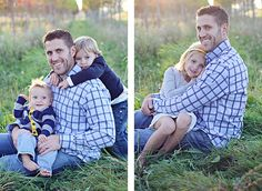 Daddy and kids poses- Holly Aprecio Photography, via Flickr