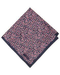 Animal print pocket square - Dark Red | Ties & Pocket Squares | Ted Baker