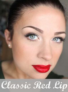 red lip holiday makeup