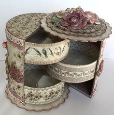 Unnis Paper Craft: Gift Box med lådor