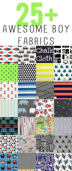 boy friday: 25 awesome boy fabrics! - see kate sew