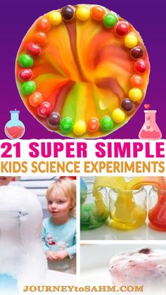 Science is so important to start teaching your kids in early childhood. It can be hard to find very simple science experiments for kids that encourage education, STEM, STEAM, and even engineering activities. Some of these science activities are messy enough to do them outdoors for easy cleanup, while some are so easy to do at home on a rainy day inside. Each experiment is fun and easy to do with little kids as young as 2 years old.. | @journeytoSAHM #preschoolscience #stemlearning #stem Dry Ice Experiments, Chemistry Experiments For Kids, Balloon Science Experiments, Milk Science Experiment, Science Crafts, Preschool Science, Toddler Preschool, Montessori Activities, Science Activities