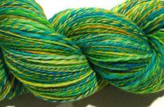Handspun yarn Springtime DK weight 2 ply by SpinningWheelStudio, $36.00
