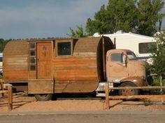 Truck Camper HQ Cab Over Engine Rounded Wood Camper