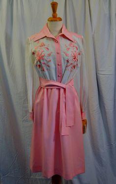 0793cf1d788 SALE Reduced 15 Vintage 70s Leslie Fay Pink   by thatpoorgirl
