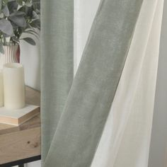 Shop for Aurora Home Colorblock Border Linen Blend Curtain Panel Pair - 52 x Get free delivery On EVERYTHING* Overstock - Your Online Home Decor Outlet Store! Home Curtains, Hanging Curtains, Panel Curtains, Curtain Sets, Curtain Fabric, White Spruce, Curtain Styles, Blackout Curtains, Home Decor Outlet