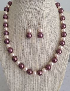 Pink and Brown Pearl Necklace Pink and Brown by CherishedJewelryCo, $24.00 #pink and brown wedding
