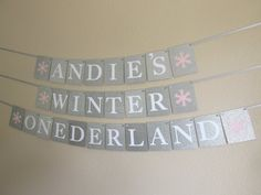 Perfect for Winter Onederland Parties! This personalized banner will make a stunning backdrop for your little ones first birthday and will be