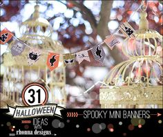 Rhonna DESIGNS: Idea No. 10: 31 Halloween Ideas w/ Rhonna Designs --Spooky Mini Banners