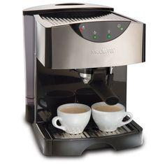 Mr. Coffee ECMP50 Espresso/Cappuccino Maker  #coffeemaker #espressomaker #MrCoffee Latte Maker, Cappuccino Maker, Cappuccino Machine, Espresso Maker, Latte Machine, Coffee Making Machine, Coffee Machines, Best Home Espresso Machine, Espresso Machine Reviews