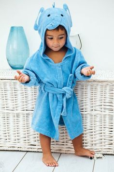 9a4be16688 Elephant Soft Hooded Toddler Bath Robe