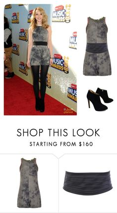 """Bridgit Mendler"" by melissagatzia ❤ liked on Polyvore featuring Disney, Topshop and Giuseppe Zanotti"