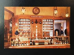 Vintage Disneyland Main Street U.S.A. Postcard - Upjohn Pharmacy Prescription Counter by VintageDisneyana on Etsy