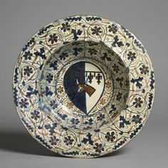 Earthenware Bowl emblazoned with the Arms of the Dazzi Family, Spanish, c. 1430 - 1460