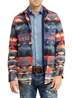 952d1a4acf783 POLO RALPH LAUREN Western Fleece-Lined Overshirt.  poloralphlauren  cloth  Polo Blue
