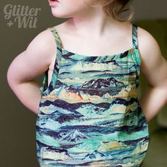 Cut Out Semicircle Tank in Liberty of London Tana by GlitterAndWit