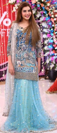 KASHEES Light Party Wear And Formal Wear at Retail and whole sale prices at Pakistan's Biggest Replica Online Store Net Dresses Pakistani, Pakistani Fashion Party Wear, Pakistani Wedding Outfits, Pakistani Dress Design, Bridal Outfits, Indian Gowns, Indian Outfits, Indian Fashion, Designer Kurtis