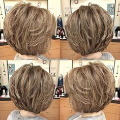 The Full Stack: 50 Hottest Stacked Haircuts - - Feminine Stacked Bob Bob Hairstyles For Fine Hair, Haircut For Thick Hair, Short Hairstyles For Women, Trendy Hairstyles, Flip Hairstyle, Stacked Bob Hairstyles, Korean Hairstyles, Gorgeous Hairstyles, Hairstyle Short