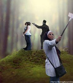Haris Karagkounidis: Photoshop Manipulation Photography-Selfie without ...