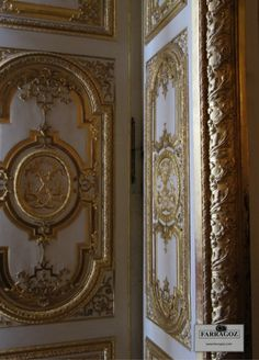 Paneling. This magnificent paneling in the Palace of Versailles.  Farragoz - The Art of Patina. http://www.farragoz.com/