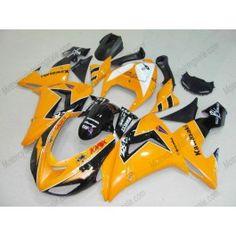 Kawasaki NINJA ZX10R 2006-2007 Injection ABS Fairing - Others - Orange/Black | $639.00