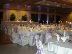 light purple & white Floor To Ceiling Windows, Light Purple, Banquet, Wedding Ideas, Table Decorations, Home Decor, Homemade Home Decor, Decoration Home, Wedding Ceremony Ideas